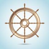 Реалистическое сияющее колесо овец капитана иллюстрация вектора