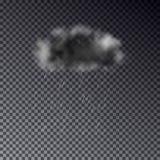 Реалистическое темное облако при дождь изолированный на прозрачном backgroun Стоковое Изображение RF
