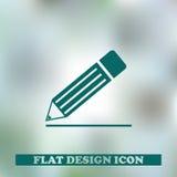 Реалистическое pensil изолированное на серой предпосылке также вектор иллюстрации притяжки corel Стоковая Фотография