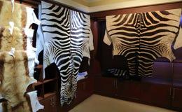 Реальная кожа зебры Стоковая Фотография