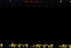 Реальная развертка прокладки границы фильма стоковое изображение