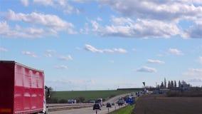 Реальное время движения шоссе видеоматериал