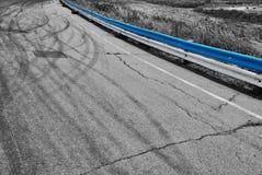 Реальное фото следа скорости Стоковое Изображение