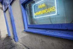 Реальные гамбургеры Стоковые Фотографии RF