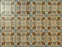 Реальные португальские классические плитки стены в голубых тонах Стоковые Фотографии RF