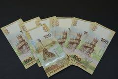 Реальные русские деньги Новое ` ` 100 Стоковые Фото