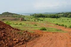 Реальные цвета Индии Ландшафт с паломниками Стоковое фото RF