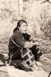 Реальные люди в Вьетнаме, в черно-белом Стоковое Фото