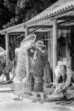 Реальные люди в Вьетнаме, в черно-белом Стоковое Изображение