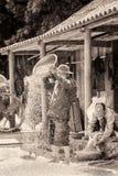 Реальные люди в Вьетнаме (черно-белом) Стоковое Изображение