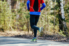 Реальный атлетический человек бегуна Стоковые Изображения