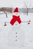 Реальный снеговик outdoors Стоковое Фото