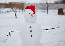 Реальный снеговик outdoors Стоковое фото RF