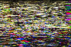 Реальный экран небольшого затруднения красочного телевидения испытания цифрового Стоковая Фотография RF