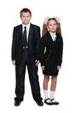 2 ребенка школьного возраста Стоковые Фотографии RF