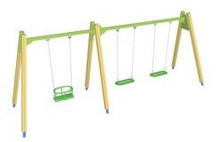 Ребенк-безопасное качание, иллюстрация 3D Стоковые Изображения