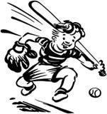 Ребенк бейсбола иллюстрация вектора
