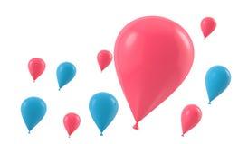 Ребенк воздушного шара Стоковое Изображение RF