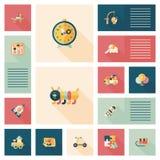 Ребенк забавляется плоская предпосылка ui app, eps10 Стоковые Фотографии RF