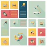 Ребенк забавляется плоская предпосылка ui app, eps10 Стоковое Фото