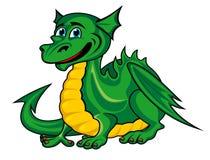Ребенк зеленого дракона фантазии Стоковое Фото