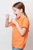 Ребенк и еда Стоковое Фото