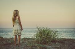 Ребенк и океан Стоковое Фото