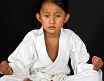 Ребенк карате Стоковая Фотография