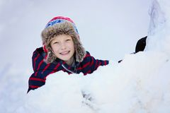 Ребенк на зиме стоковое изображение rf