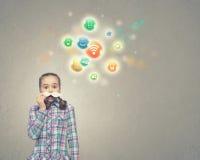 Ребенк с усиком Стоковые Изображения