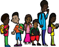ребенокы школьного возраста группы Стоковое Фото