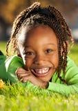ребенок афроамериканца счастливый Стоковое Изображение