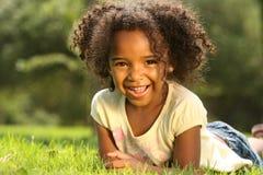 ребенок афроамериканца счастливый Стоковое Фото