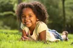 ребенок афроамериканца Стоковая Фотография