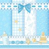Ребенок безшовный. Голубо Стоковое Изображение