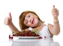 ребенок вишни вкусный Стоковое Изображение RF