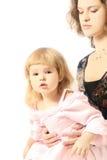 ребенок вручает мать s Стоковое Изображение