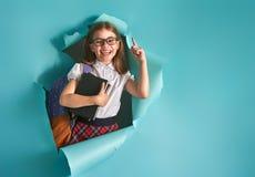 Ребенок выходить стена цвета Стоковое фото RF