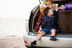 Ребенок в автомобиле Стоковое Изображение RF
