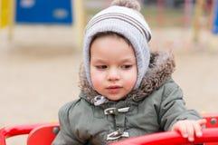Ребенок в карусели Стоковое фото RF