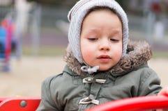 Ребенок в карусели Стоковая Фотография