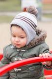 Ребенок в карусели Стоковые Фото
