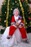Ребенок в костюме гнома рождества Стоковые Фото