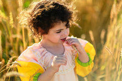 Ребенок в поле пшеницы Стоковое Фото