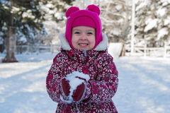 Ребенок в стране чудес зимы Стоковые Изображения RF