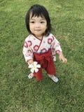 Ребенок в японском платье стоковое фото