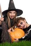Ребенок в costume halloween Стоковые Фотографии RF