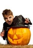 Ребенок в costume halloween Стоковая Фотография RF