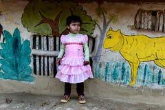 Ребенок девушки в Индии стоковая фотография