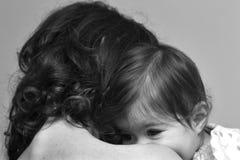 ребенок ее мать Стоковое Изображение